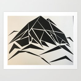 When Mountains Move - A Art Print