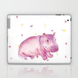 Pink Fiona Hippo Flower Painting Laptop & iPad Skin