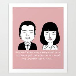 V and M Art Print