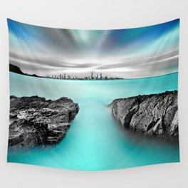 Quantum Divide Wall Tapestry