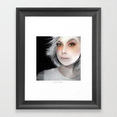 Megan Massacre Portrait Framed Art Print
