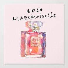 Perfume Coco Mademoiselle Illustration Canvas Print