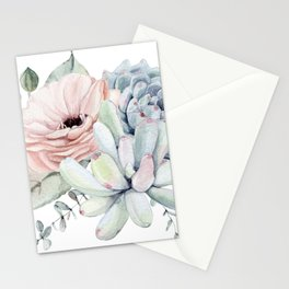 Pastel Succulents by Nature Magick Stationery Cards