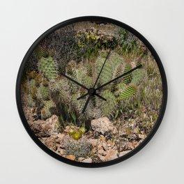 Budding Cactus Wall Clock