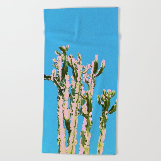 Cactus Beauty #cactus #society6 #decor #buyart Beach Towel