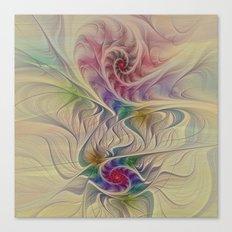Rainbow Spirals Canvas Print