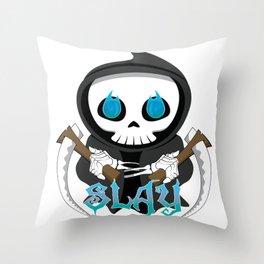 Skully Slays Throw Pillow