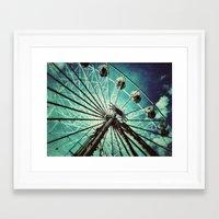 ferris wheel Framed Art Prints featuring Ferris Wheel by Angela Bruno