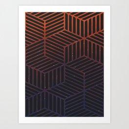 Galaxy pattern Art Print