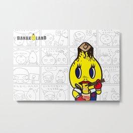 Take a break- Ben the Banana man comic style Metal Print