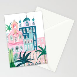 Moroccan houses Stationery Cards
