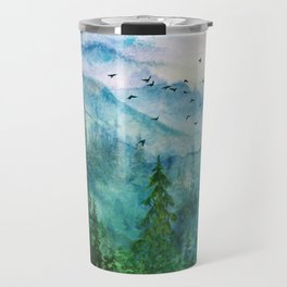 Spring Mountainscape Travel Mug