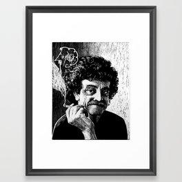 Kurt Vonnegut Framed Art Print