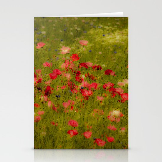 Deep Poppies Stationery Cards