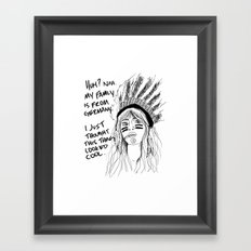 Attention Whore - BW Framed Art Print