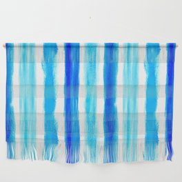 Laird Blue Stripes Wall Hanging