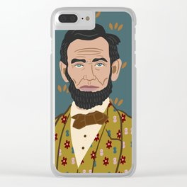 Abe Lincoln Clear iPhone Case