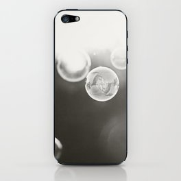Bubble Photography, Black and White Bathroom Art, Laundry Room Photo iPhone Skin
