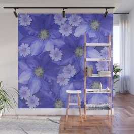 Purple/Lilac Floral Wall Mural