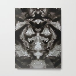 Moth invites for coffee Metal Print