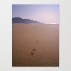 THE WHOLE BEACH TO MYSELF Canvas Print