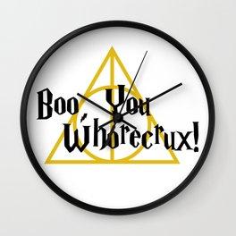 Boo, You Whorecrux Wall Clock
