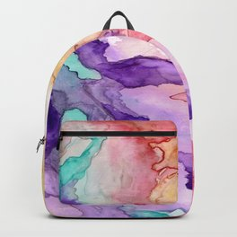 Color My World Watercolor Abstract Painting Backpack