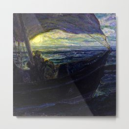African American Masterpiece 'The Disciples on the Sea' by Henry Ossawa Tanner Metal Print