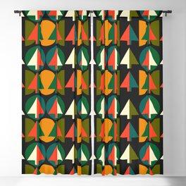 Retro Christmas trees Blackout Curtain