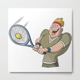 Tennis two hand backhand Metal Print