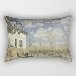 Alfred Sisley - Flood at Port-Marly, 1876 Rectangular Pillow