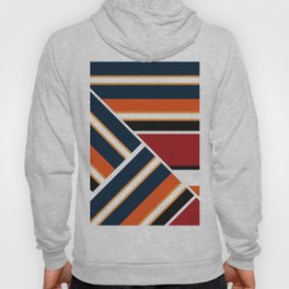 Retro . Combined stripes . Hoody