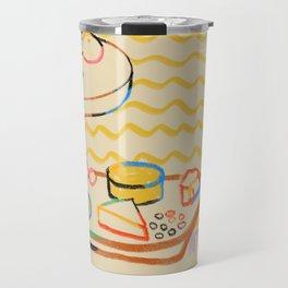 YELLOW TULIPS, WINE AND CHEESE Travel Mug