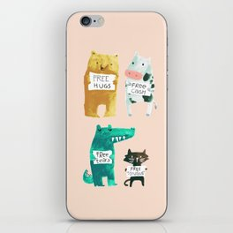 Animal idioms - its a free world iPhone Skin