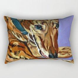Emmitt the Whippet Dog Portrait Rectangular Pillow