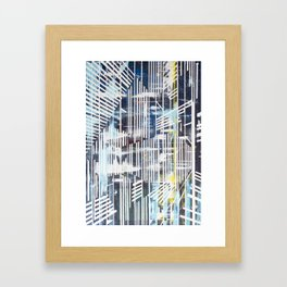 Lines blue Framed Art Print