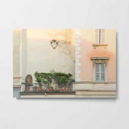 Balcony Garden, Milan Metal Print