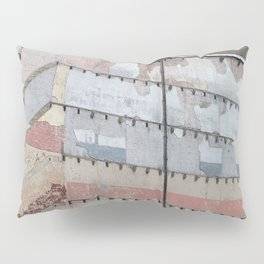 Architectural Detail Wall, Salvage, Old building, Chicago Pillow Sham