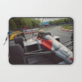 Ayrton Senna driving his MP4/4 Laptop Sleeve