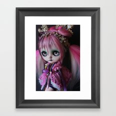 LITTLE OCTOPUS CUSTOM BLYTHE ART DOLL PINK NAVY Framed Art Print