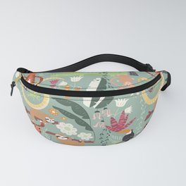 Rain forest animals 001 Fanny Pack