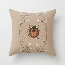The Ladybug and Sweet Pea Throw Pillow