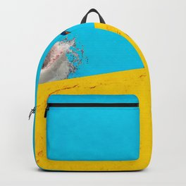 Great white shark in a swimming pool Backpack