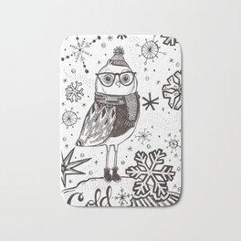 Cold Winter Owl Bath Mat