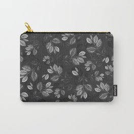 Black and White Leaves Pattern #1 Carry-All Pouch
