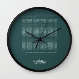 He Wishes for the Cloths of Heaven Wall Clock