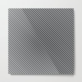 Dark Shadow Stripe Metal Print