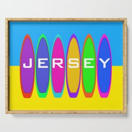 Jersey Surfboards on the Beach Serving Tray
