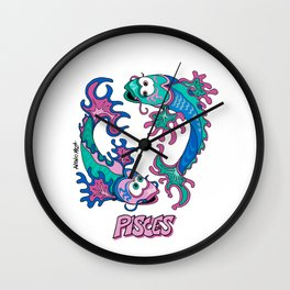 Pisces, Fish, Zodiac, Astrology, Horoscope Wall Clock