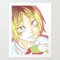 haikyuu Art Prints featuring Kenma Haikyuu!! by SpigaRose